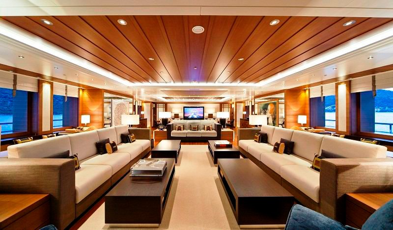 audio visual system on luxury yacht